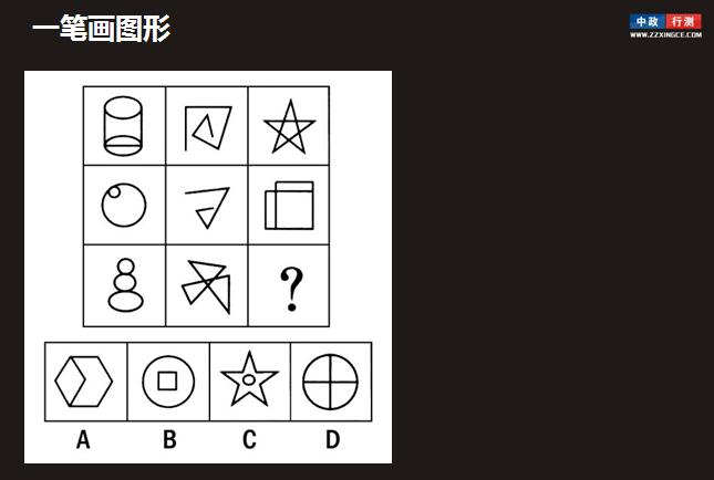 五角星是典型的一笔画图形,当题目中出现五角星时,可能是考查一笔画
