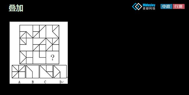 2015年甘肃公务员考试行测图形推理视频:叠加技巧图片